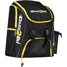 Dare2Tri Transition Rugzak 23L, black/yellow